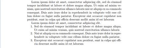 New paragraph and enumerate - should I keep an indent
