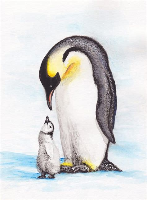Pin by Christine Cauthron on Penguin | Watercolor