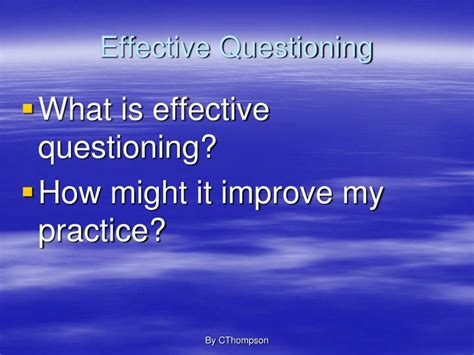 PPT - Effective Questioning PowerPoint Presentation - ID