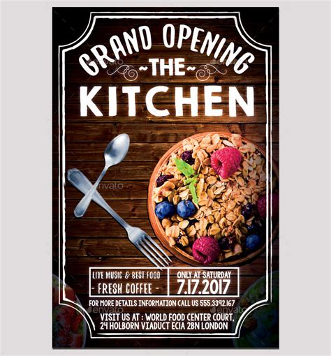12 + Restaurant Opening Flyer Designs - Word, PSD, AI, EPS