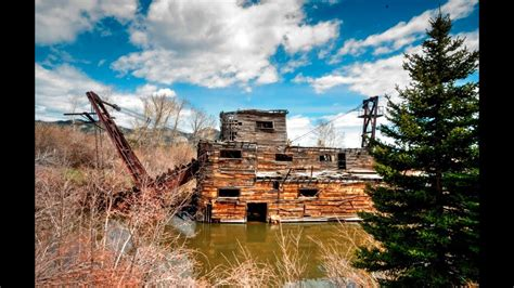 Historic Peggy Gold Dredge - Madison River Valley, Montana