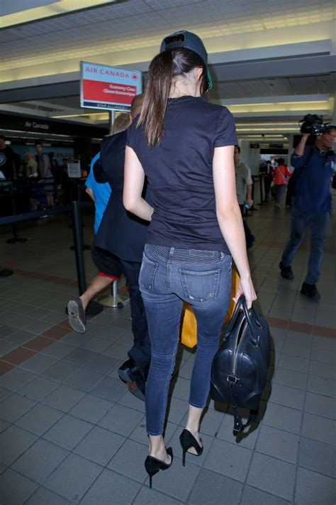 KENDALL JENNER in Jeans at LAX Airport in Los Angeles 08