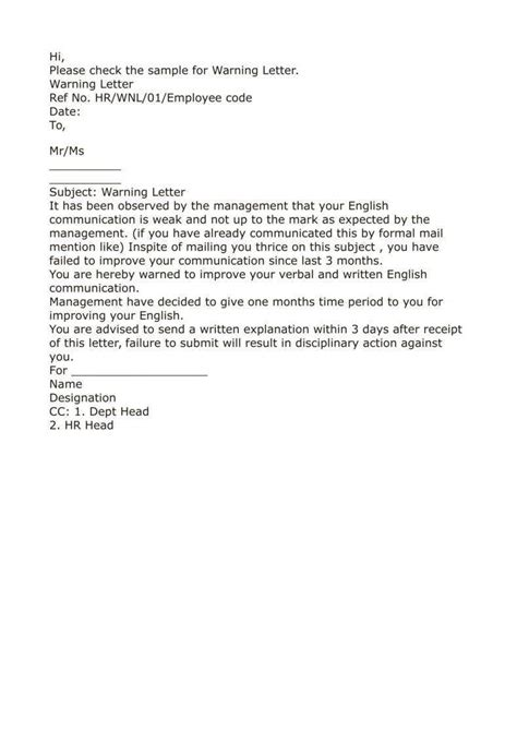 10+ Official Warning Letters - Google Docs, MS Word, Apple