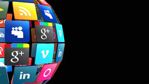 Editorial Animation: Social Networks App Stock Footage