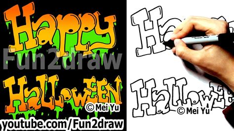 How to Draw Graffiti Letters - Happy Halloween - Fun