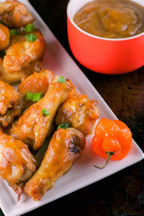 Mango Habanero Chicken Wings in the Oven - Crispy and