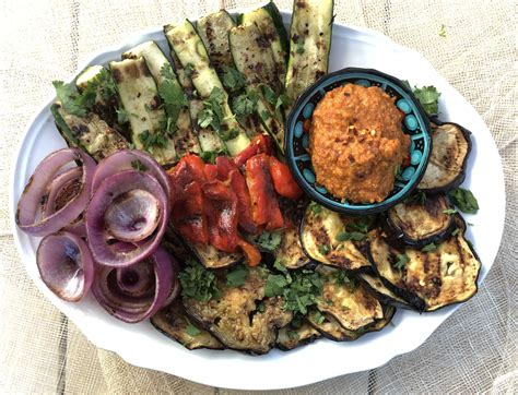 Grilled Vegetable Platter with Romesco | My Studio Kitchen