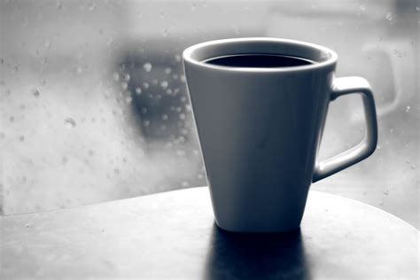 Hot Coffee on a rainy day   Flickr - Photo Sharing!