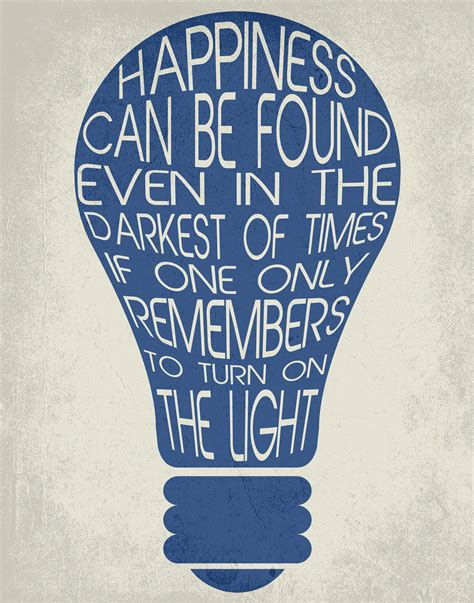 Typography Print / Happiness Can Be Found / Dumbledore Quote