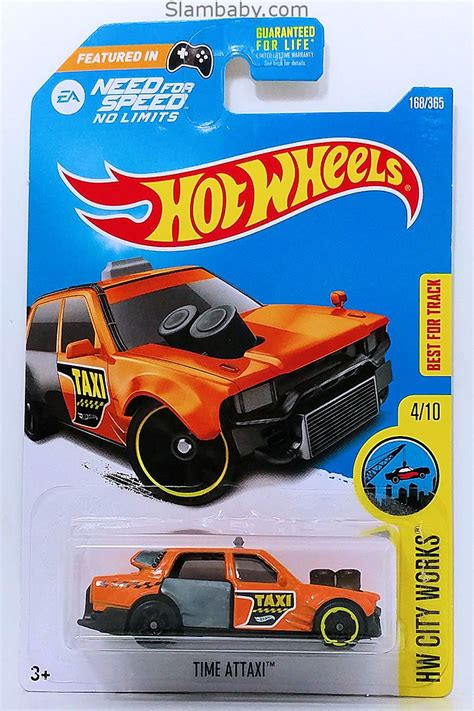 Hot Wheels - Time Attaxi Orange 2017 HW City Works #168/365