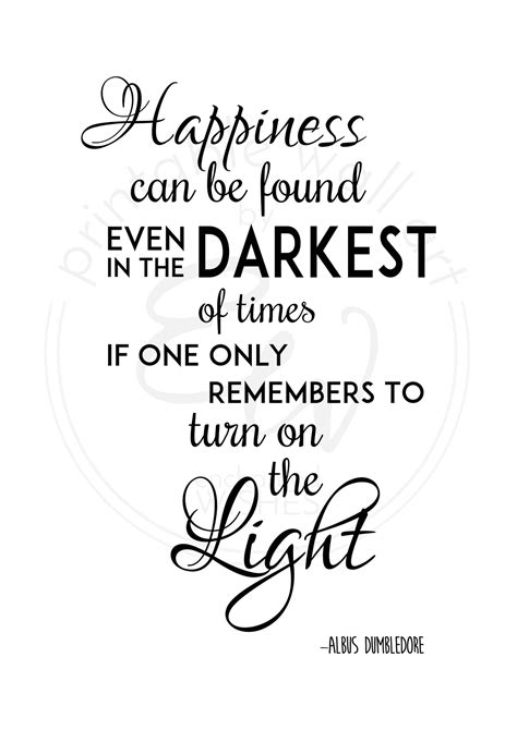 Happiness Can Be Found Quote FREE Printable Print