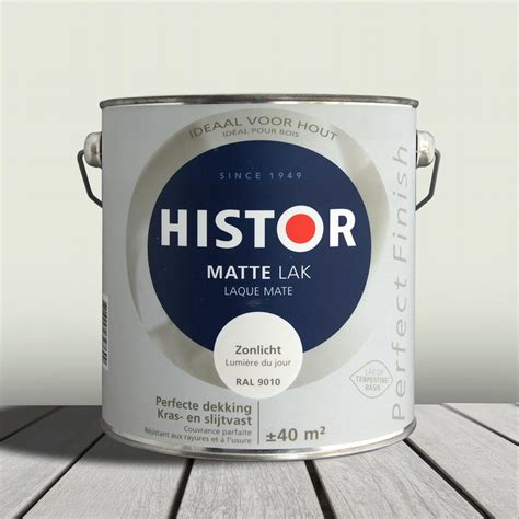 Histor Perfect Finish Alkyd Lak Mat Zonlicht (Ral 9010