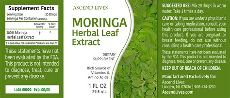 MORINGA Herbal Leaf Extract - Ascend Lives